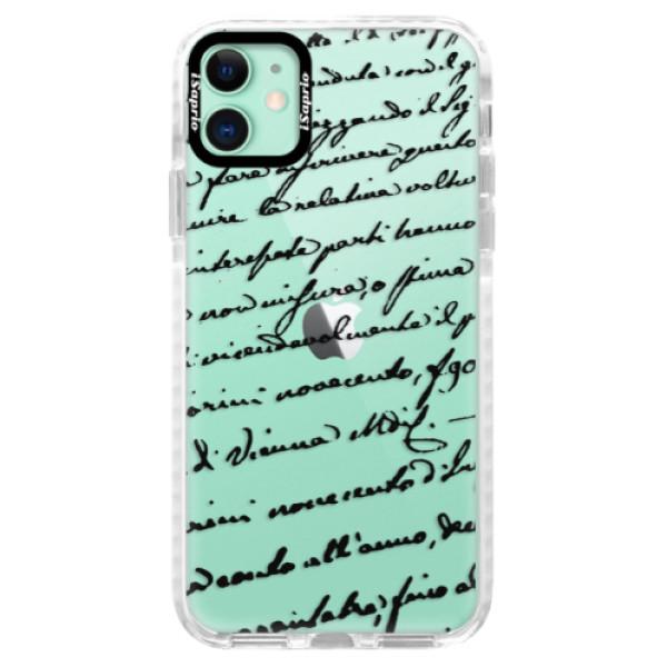 Silikonové pouzdro Bumper iSaprio - Handwriting 01 - black - iPhone 11