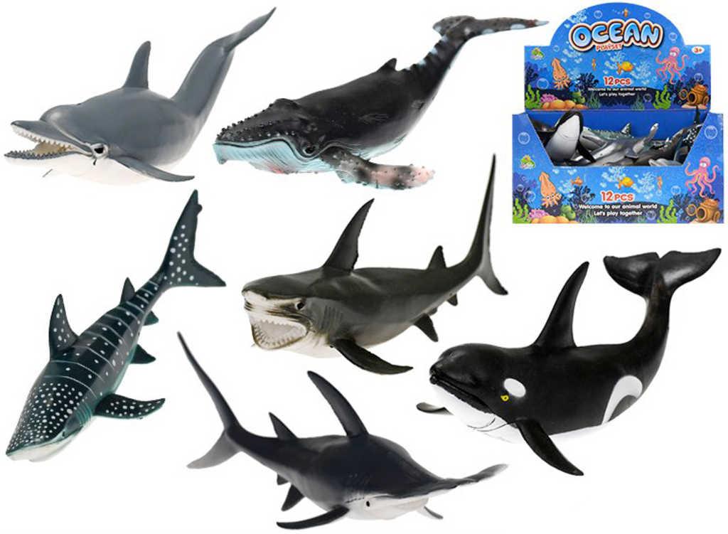 Zvířátko ryba mořská 22-24cm různé druhy plast
