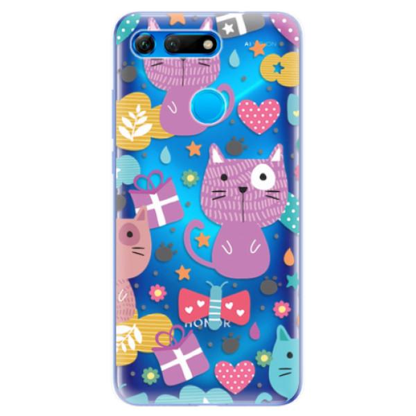 Odolné silikonové pouzdro iSaprio - Cat pattern 01 - Huawei Honor View 20