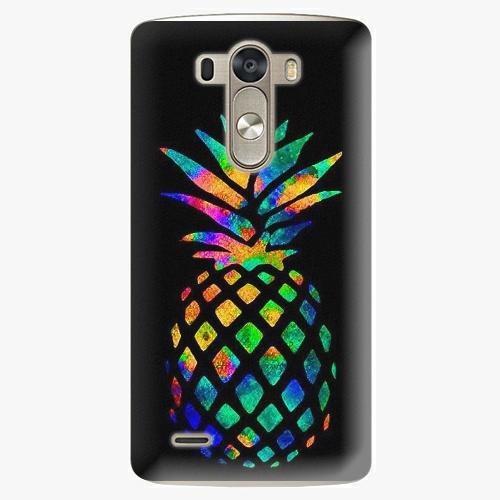 Plastový kryt iSaprio - Rainbow Pineapple - LG G3 (D855)