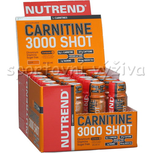 Carnitine 3000 Shot 20x60ml - ampule-pomeranc