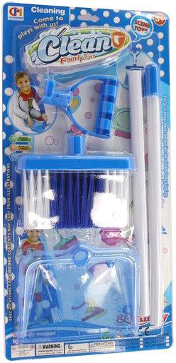 Souprava na uklízení plastová set dětský smeták + lopatka uklízečka na kartě