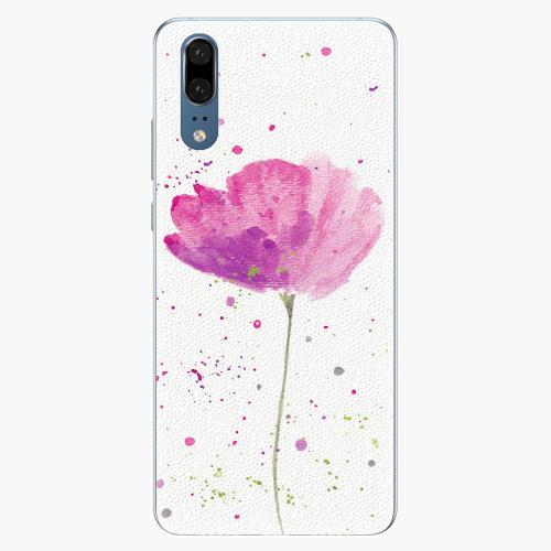 Silikonové pouzdro iSaprio - Poppies - Huawei P20