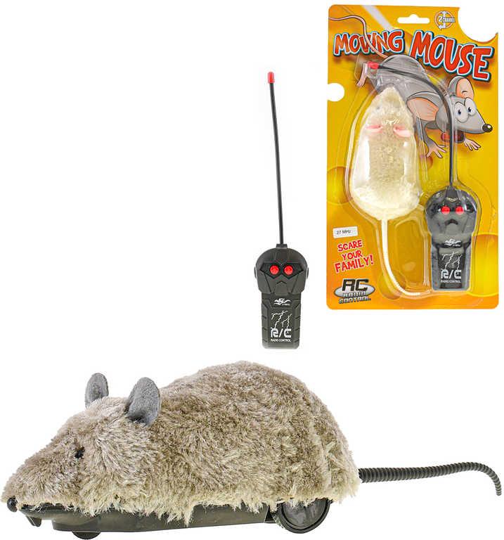 RC Myš 22cm na vysílačku 27MHz na baterie 2 barvy