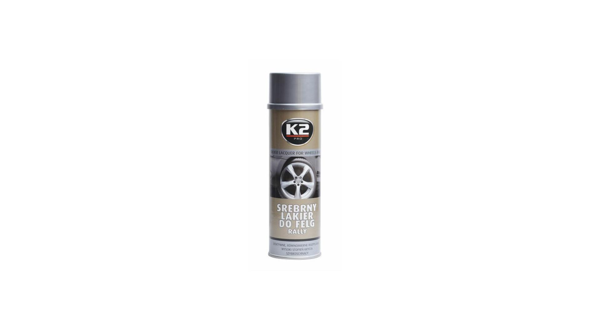 K2 SILVER LACQUER FOR WHEELS RALLY 500ml - stříbrný lak na kola, ochrana proti korozi