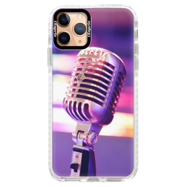 Silikonové pouzdro Bumper iSaprio - Vintage Microphone - iPhone 11 Pro