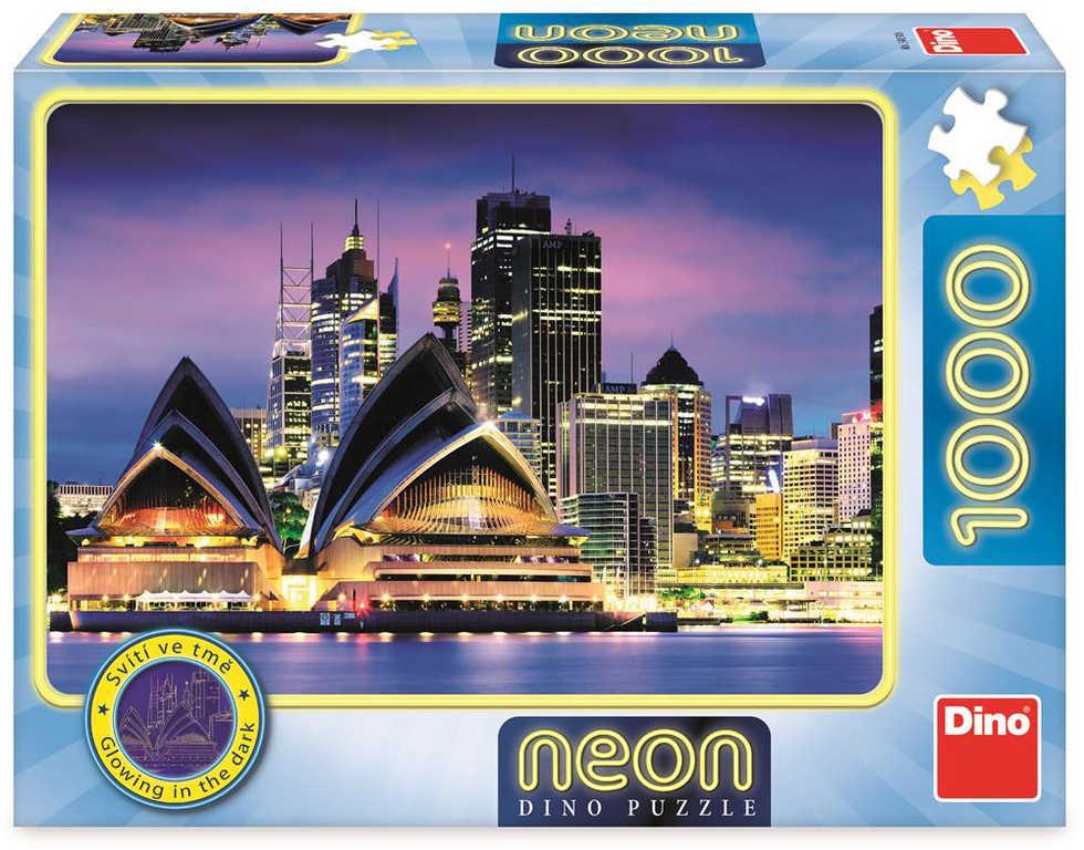 DINO Puzzle 1000 dílků Opera v Sydney 66x47cm svítí ve tmě skládačka