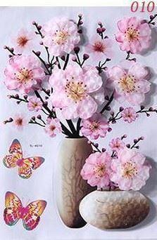 3D samolepka květina - růžová