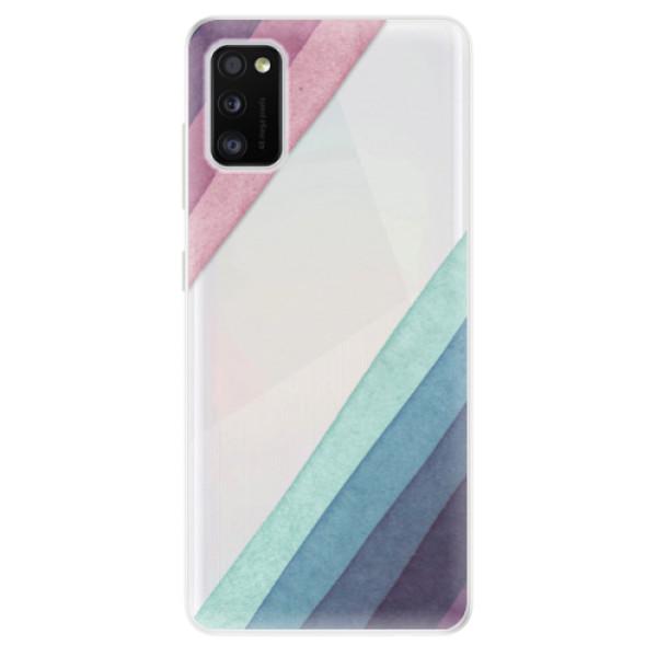 Odolné silikonové pouzdro iSaprio - Glitter Stripes 01 - Samsung Galaxy A41