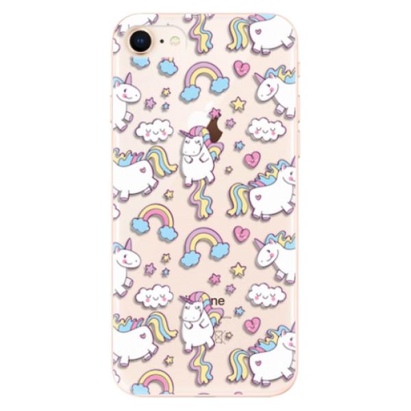 Odolné silikonové pouzdro iSaprio - Unicorn pattern 02 - iPhone 8