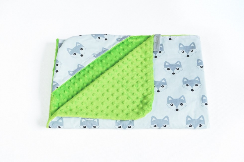 baby-nellys-luxusni-bavlnena-decka-3v1-s-minky-90-x-90-cm-listicky-minky-zelena