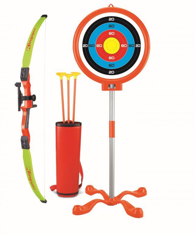 Hrací set G21 Luk s terčem na stojanu s držákem na 3 šípy