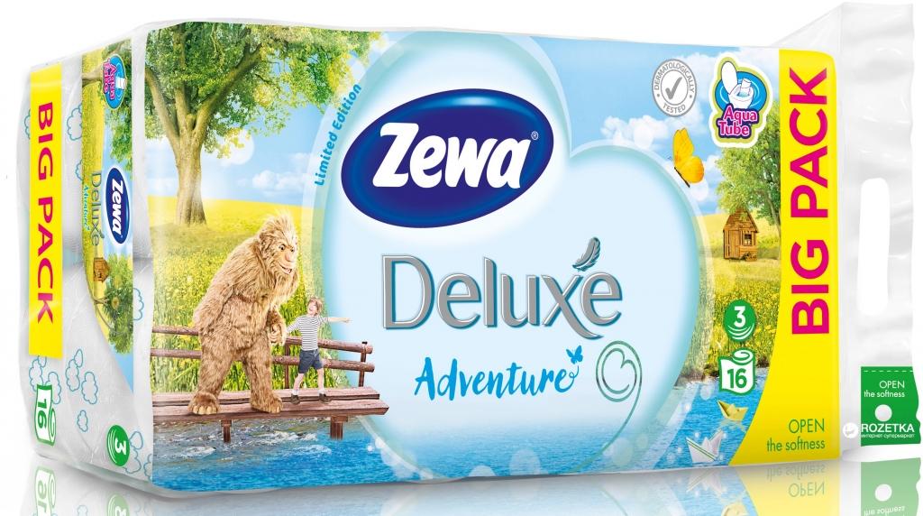 Deluxe Adventure toaletní papír parfémovaný, 3-vrstvý 16 ks