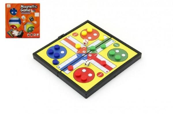 Magnetické Člověče, nezlob se malé společenská hra v krabičce 13x13x1,5cm