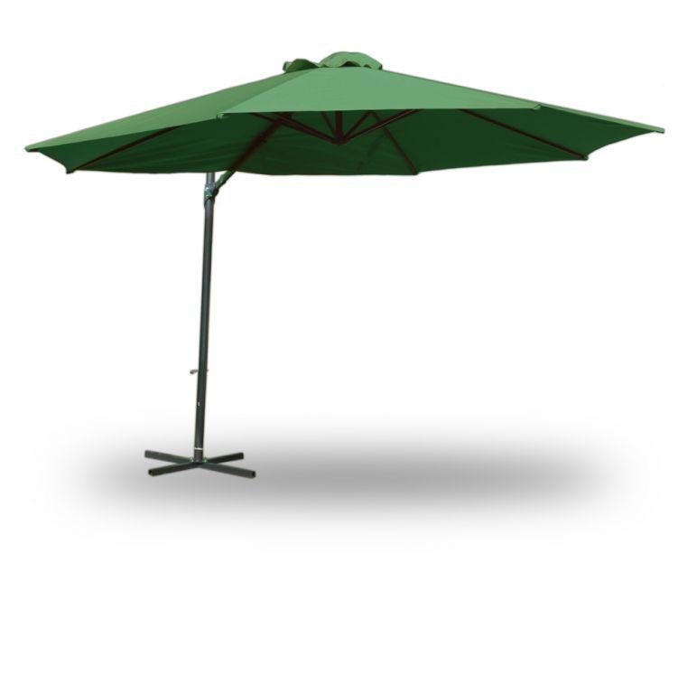 Slunečník 350 cm - tmavě zelený