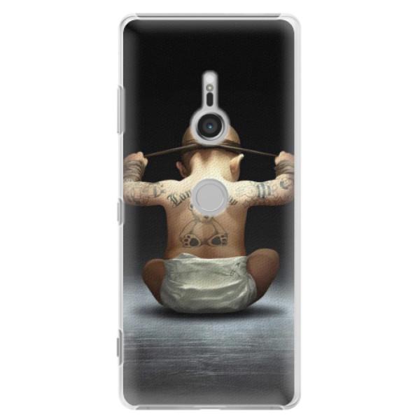Plastové pouzdro iSaprio - Crazy Baby - Sony Xperia XZ3