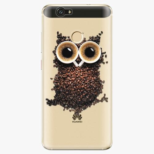 Plastový kryt iSaprio - Owl And Coffee - Huawei Nova