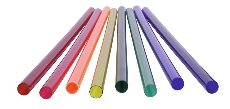 Barevný filtr pro neónovou trubici T12, 58,5 cm, růžový