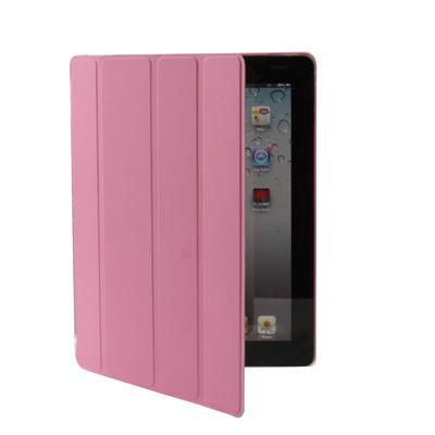Kožený kryt / pouzdro Smart Cover pro iPad 2 / 3 / 4 růžový