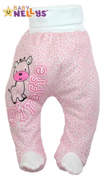Polodupačky Baby Nellys ® Giraffe - růžové - 86 (12-18m)