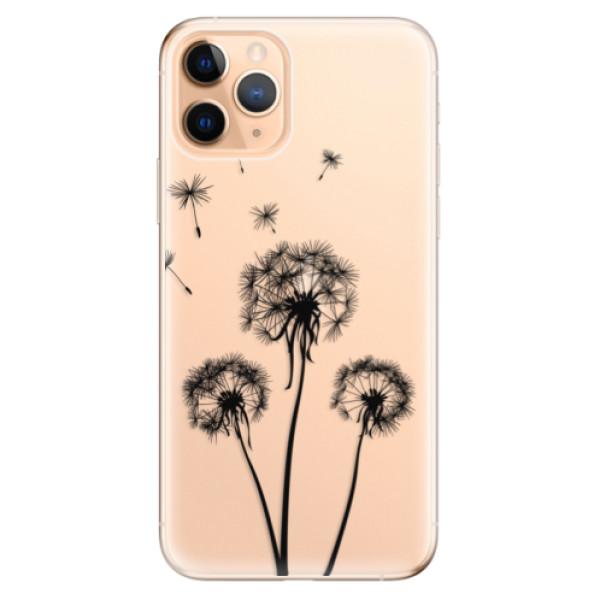 Odolné silikonové pouzdro iSaprio - Three Dandelions - black - iPhone 11 Pro