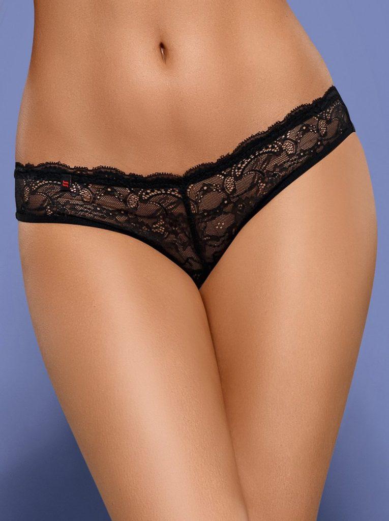 Kalhotky Obsessive Frivolla panties - Černá - L/XL