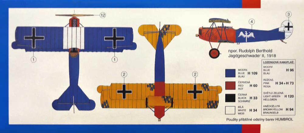 SMĚR Model letadlo Fokker D-VII 1:48 (stavebnice letadla)