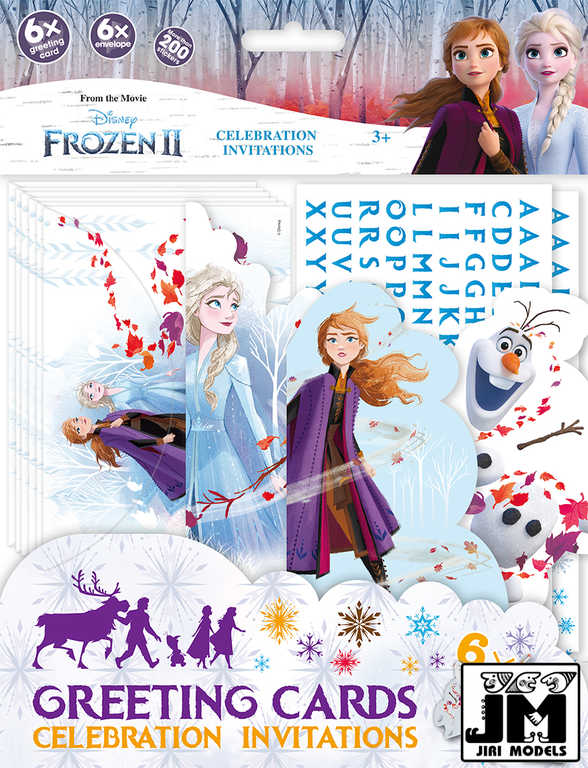 JIRI MODELS Pozvánky na oslavu 6ks Frozen 2 (Ledové Království)