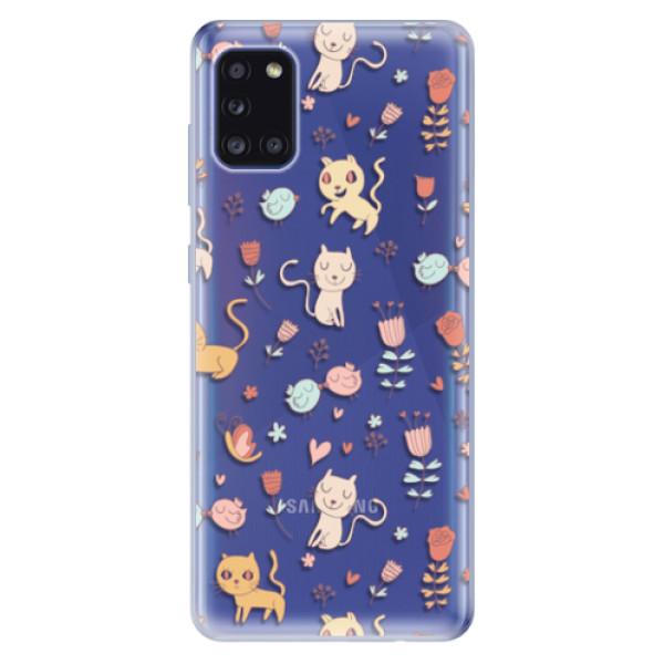 Odolné silikonové pouzdro iSaprio - Cat pattern 02 - Samsung Galaxy A31