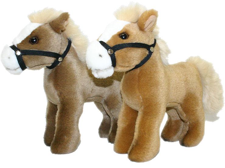 PLYŠ Kůň (koník) 23 cm stojící - 2 barvy