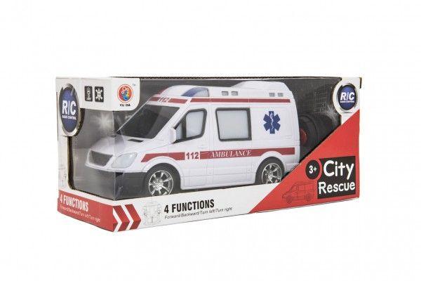 Ambulance na dálkové ovládání, plast, 20 cm, od 3 let
