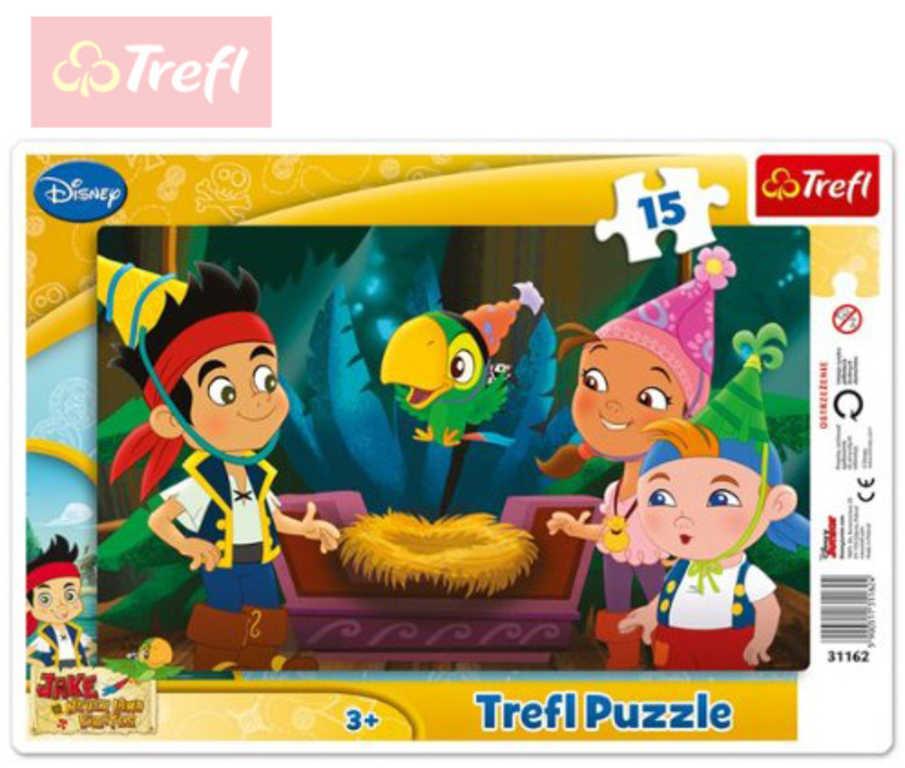 TREFL PUZZLE Rámkové Jake a piráti výlet do Země Nezemě 15 dílků 131162