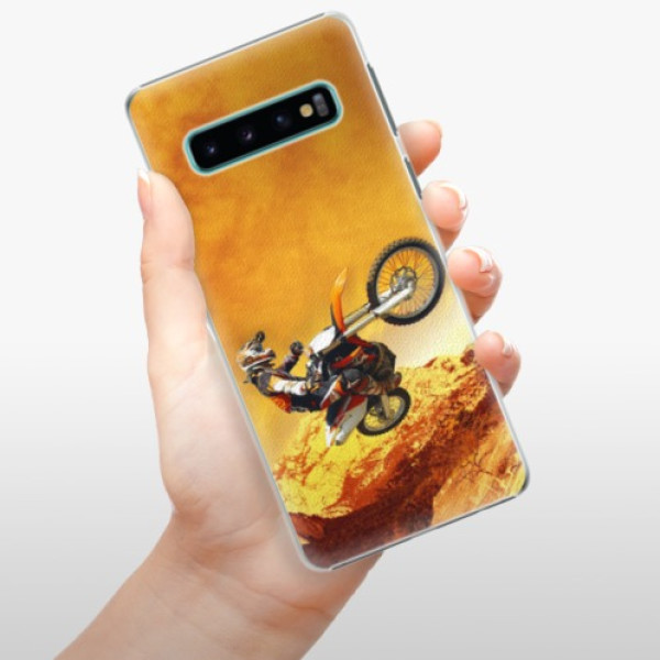 Plastové pouzdro iSaprio - Motocross - Samsung Galaxy S10