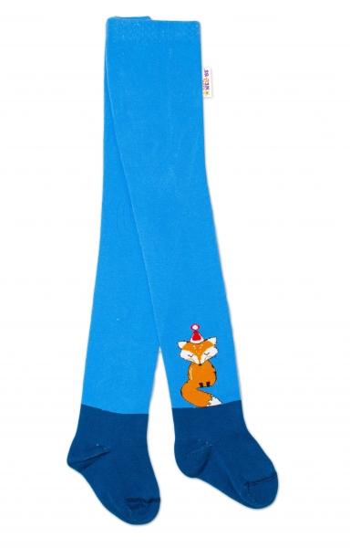 Baby Nellys Dětské punčocháče bavlněné, Fox, jeans-modrá