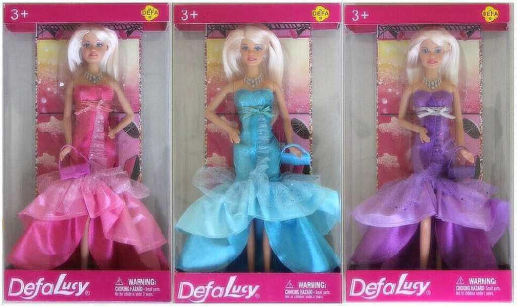 Panenka Defa Lucy 29cm plesové luxusní šaty 3 barvy