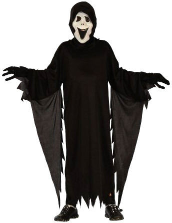 KARNEVAL Šaty Démon s maskou vel. M (120-130cm) 5-9 let KOSTÝM