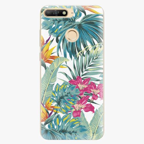 Silikonové pouzdro iSaprio - Tropical White 03 - Huawei Y6 Prime 2018