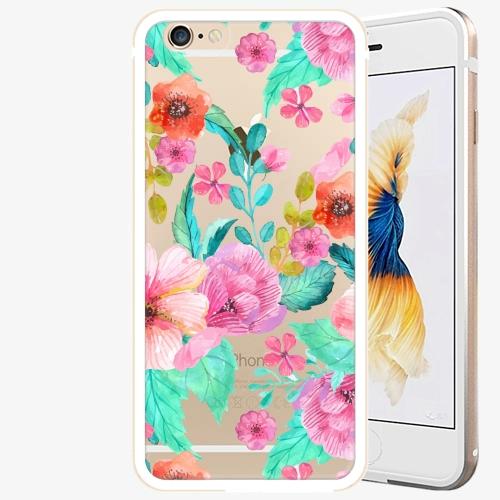Plastový kryt iSaprio - Flower Pattern 01 - iPhone 6 Plus/6S Plus - Gold