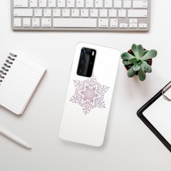 Odolné silikonové pouzdro iSaprio - Snow Flake - Huawei P40 Pro
