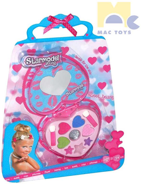 MAC TOYS Starmodel Make Up dětská sada srdíčko se zrcátkem šminky pro děti