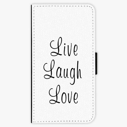 Flipové pouzdro iSaprio - Live Laugh Love - Lenovo Moto G5