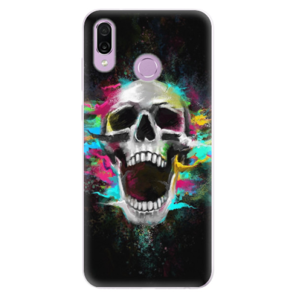 Silikonové pouzdro iSaprio - Skull in Colors - Huawei Honor Play
