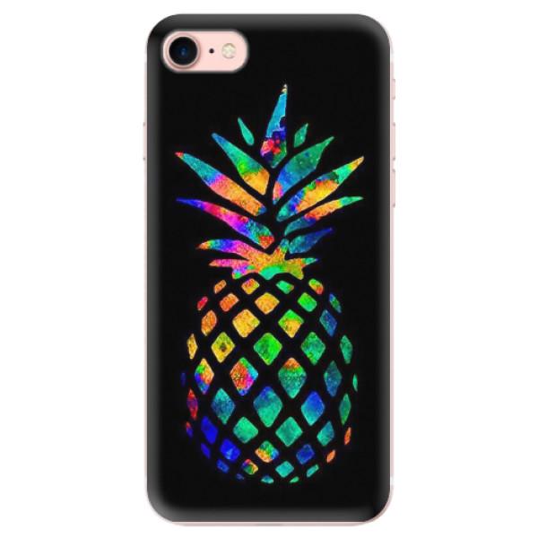 Odolné silikonové pouzdro iSaprio - Rainbow Pineapple - iPhone 7