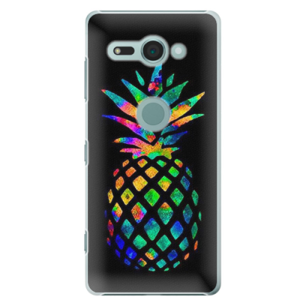 Plastové pouzdro iSaprio - Rainbow Pineapple - Sony Xperia XZ2 Compact