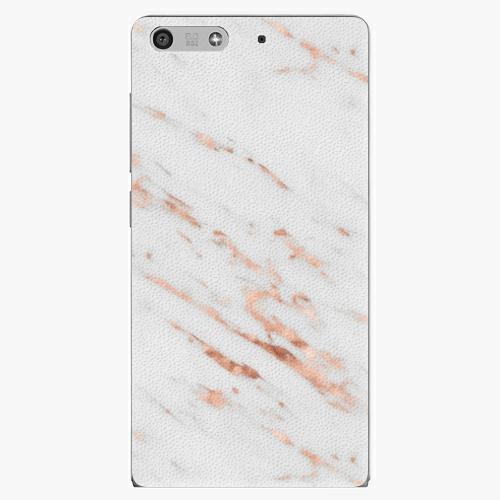 Plastový kryt iSaprio - Rose Gold Marble - Huawei Ascend P7 Mini