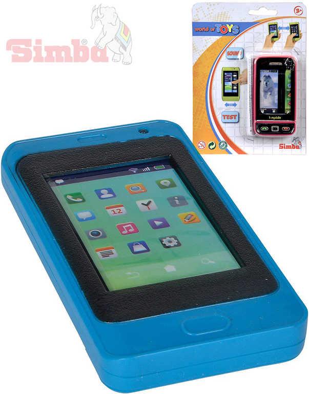 SIMBA Telefon dětský mobilní smartphone 10 cm na baterie - 2 druhy