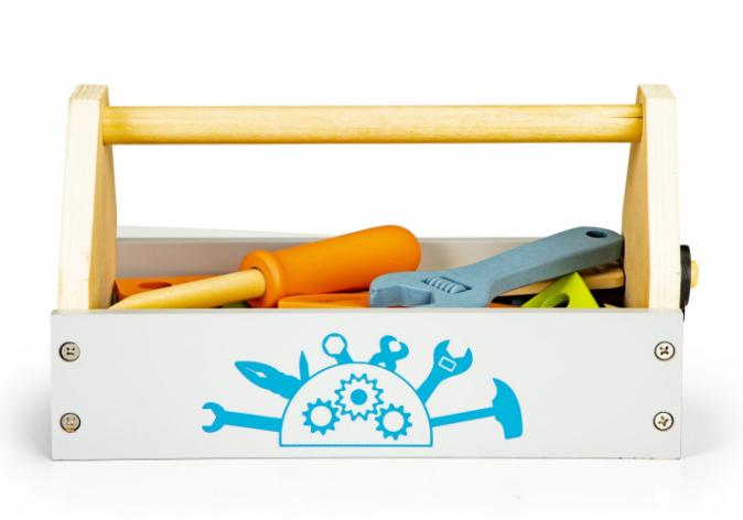 ECO TOYS Dřevěná skříňka na nářadí