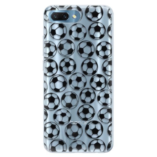 Silikonové pouzdro iSaprio - Football pattern - black - Huawei Honor 10