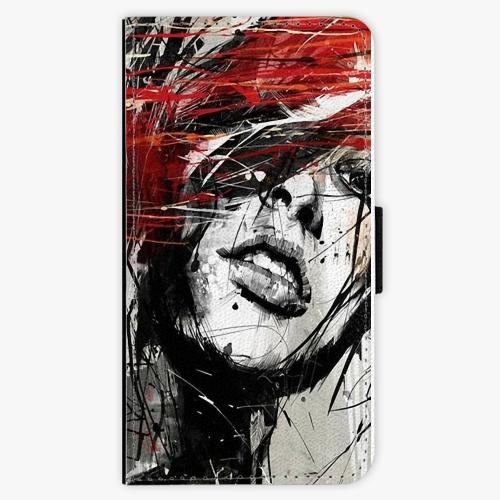 Flipové pouzdro iSaprio - Sketch Face - Lenovo Moto G5