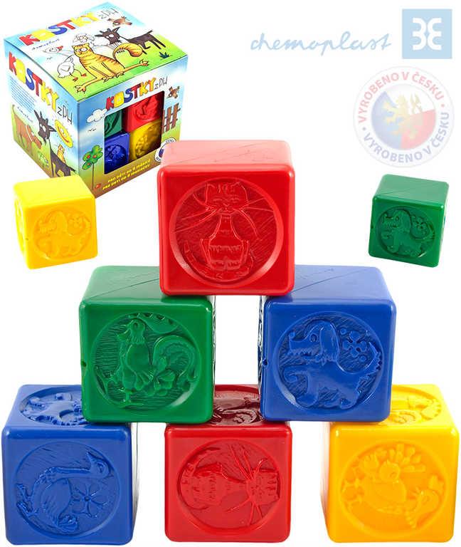 CHEMOPLAST Set 8 baby kostek PH plastové kostičky barevné v krabičce